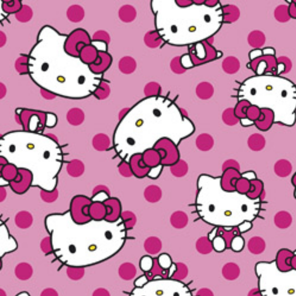Tecido Tricoline Personagens HELLO KITTY HK005C01