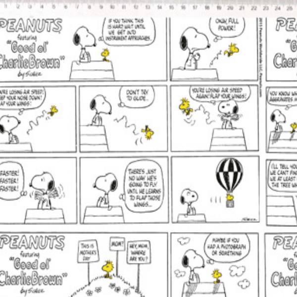 Tecido Tricoline Personagens Snoopy SN003C01