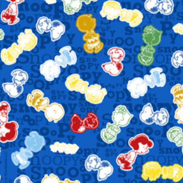 Tecido Tricoline Personagens Snoopy SN012C01