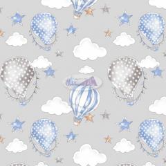 Tecido Tricoline Estampado 100% Algodão Coleção Circus Balões 180636-08