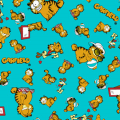 Tecido Tricoline Personagens Garfield GA006C02