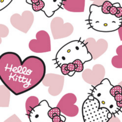 Tecido Tricoline Personagens HELLO KITTY HK004C01