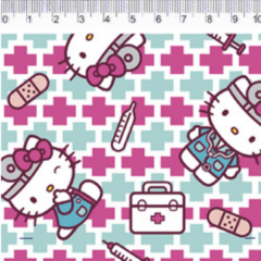Tecido Tricoline Personagens HELLO KITTY HK013C01