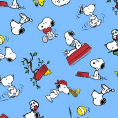 Tecido Tricoline Personagens Snoopy SN006C01