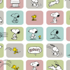 Tecido Tricoline Personagens Snoopy SN007C01