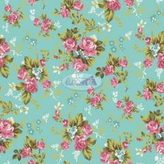 Tricoline Estampado Caldeira Floral 180574-05 (50cm X 1,50mt)