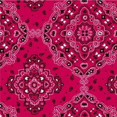 Tricoline Estampado Bandana Pink 2272-08 (50cm X 1,50mt)