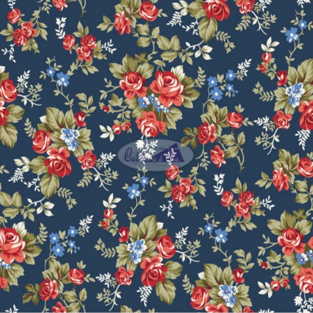 Tecido Tricoline Estampado 100% Algodão Floral 180574-03