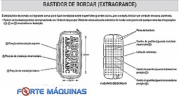 BASTIDOR BROTHER EXTRA GRANDE PE 770 13X30