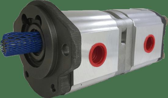 Bomba Hidráulica Industrial Dupla 22 + 4 cm3/rot