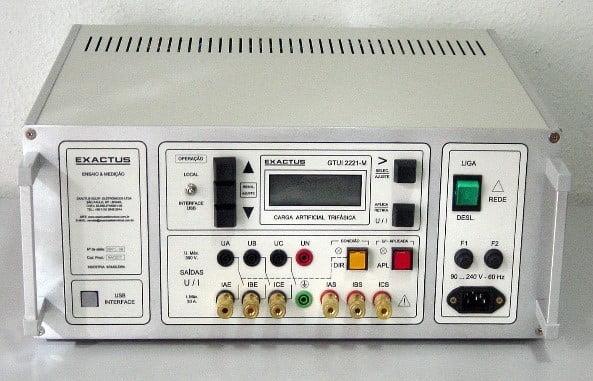 GUI 2221 –B  -  Gerador tensão/corrente  trifásico informatizado (Carga artificial)