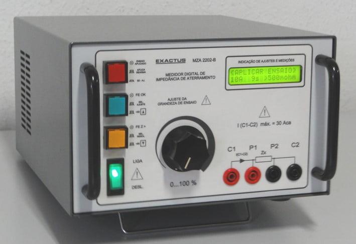 MZA 2202-B  -  MEDIDOR DIGITAL DE IMPEDÂNCIA DE ATERRAMENTO